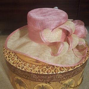 Pink & Cream Ladies Kentucky Derby Hat